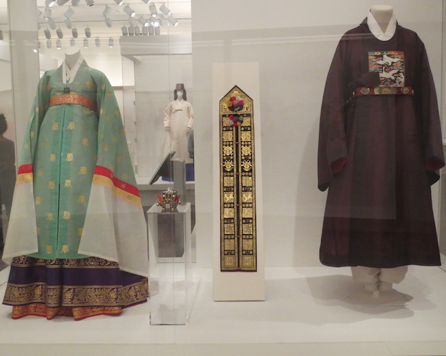 Reconstruction of woman's ceremonial robe and man's official robe from Joseon Dynasty   (1392-1897).