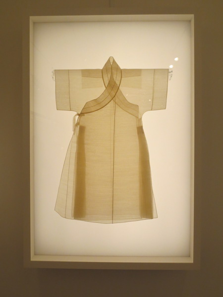 Reconstruction of man's sleeveless robe from Goryeo Dynasty (918-1392), ramie and silk.