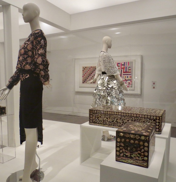 Designs by Karl Lagerfeld. Korean mother-of-pearl boxes.
