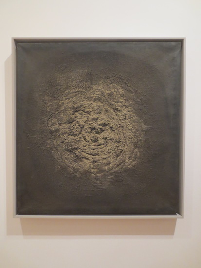 """Untitled"" (1963), by Marcos Grigorian. Dried earth on canvas. Museum of Modern Art, New York."