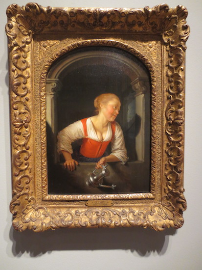 """Girl at a Window"" (c.1665), by Gerard Dou. The Sterling and Francine Clark Art Institute, Williamstown MA."
