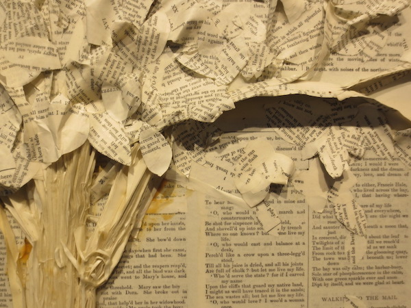 "Detail of ""A. Lord Tennyson,"" by Nance Miller. Marin MOCA, Novato, CA."