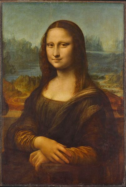 """La Gioconda"" or the Mona Lisa (1503-17?), by Leonardo da Vinci. The Louvre, Paris, France. Source:  commons.wikimedia.org"