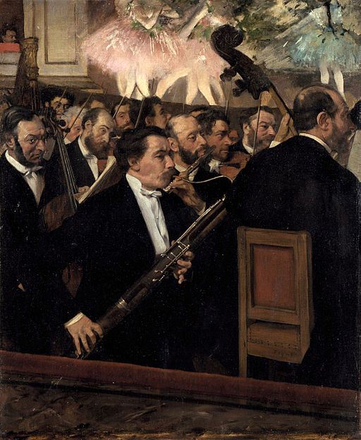 """The Orchestra at the Opera"" (ca 1870), by Edgar Degas. Source: commons.wikimedia.org/"