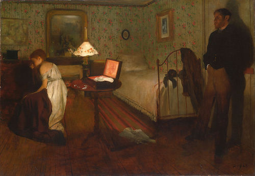 """Interior"" (1868 or 1869), by Edgar Degas. Philadelphia Museum of Art. Source: commons.wikimedia.org/"