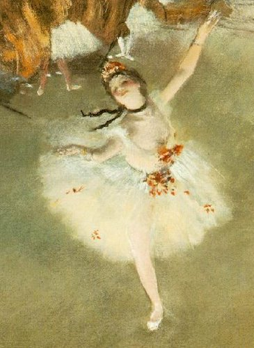 """""""L'Étoile"""" or """"Danseuse sur scène"""" (ca 1876), by Edgar Degas. Musée d'Orsay, Paris. Source: commons.wikimedia.org/"""