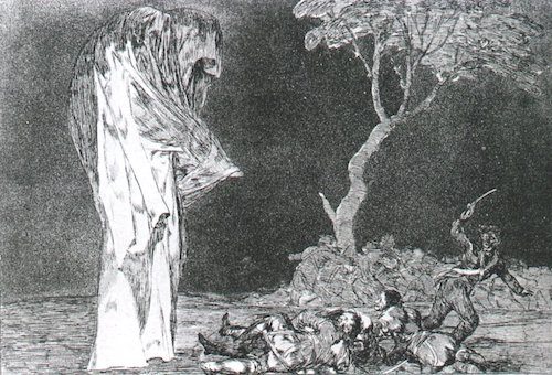"""Disparate de Miedo"" [Folly of Fear], No. 2 from the series  Los Disparates  (1864),"" by Francisco de Goya y Lucientes. Source: commons.wikimedia.org/"