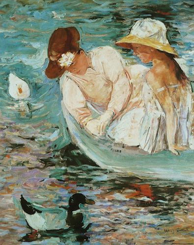 """Summertime"" (1894), by Mary Cassatt.  Source: commons.wikimedia.org/"