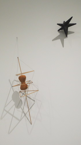 """E = mc2"" (1944), papier-mâché, and ""Bucky"" (1943), wood, wire, by Isamu Noguchi. The Isamu Noguchi Foundation and Garden Museum, Long Island, NY."