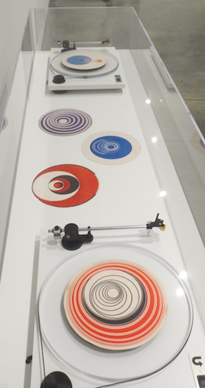 Rotoreliefs [Optical Disks] (1935), by Marcel Duchamp.. Discs printed on each side in offset color lithography. Yale University Art Gallery.