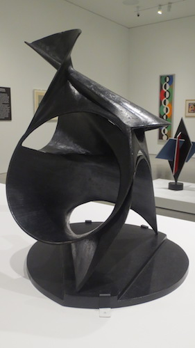 """Black Lily"" (1943), bronze, by Antoine Pevsner. Hirshhorn Museum and Sculpture Garden, Smithsonian Institution, Washington, D.C."