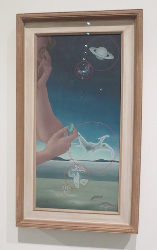 """Microcosm and Macrocosm"" (1937), oil on masonite, by Helen Lundeberg. Los Angeles County Museum of Art."