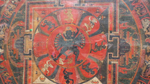 "Detail of ""Hevajra Mandala"" (14th c., Tibet)."