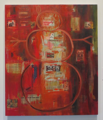 I See Red  (1992), by Jaune Quick-t0-See Smith. Mixed media on canvas. Tacoma Art Museum, Tacoma, WA.