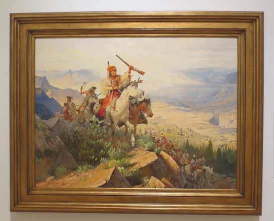 Chief Joseph  (1967), by John Clymer. Oil on canvas. Tacoma Art Museum, Tacoma, WA.