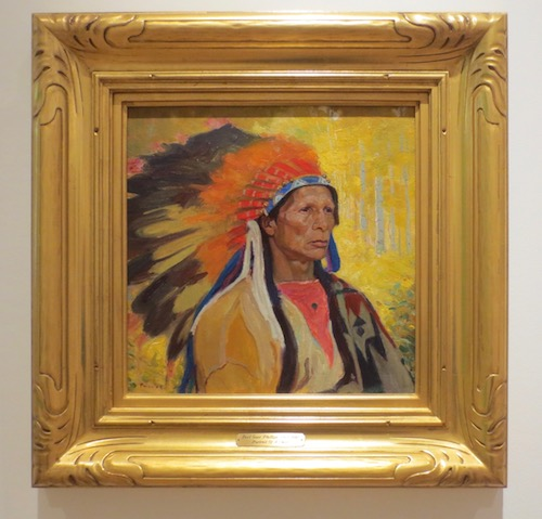 Portrait of a Chief  (c.1925), by Bert Geer Phillips. Oil on board. Tacoma Art Museum.