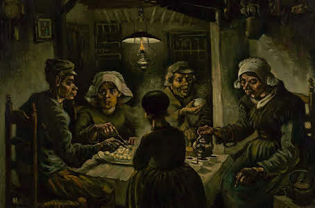 The Potato Eaters  (1885), by Vincent Van Gogh. Van Gogh Museum, Amsterdam. Source: commons.wikimedia.org/