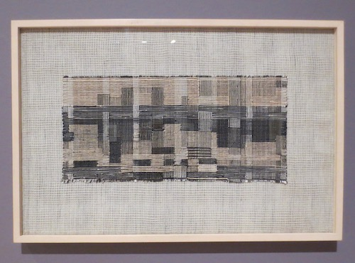 City  (1949), by Anni Albers; linen and cotton.