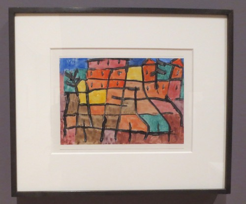 Ohne Titel  (Untitled) (1940), by Paul Klee.; watercolor and paste on paper.