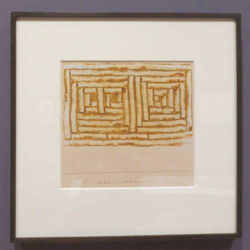 Nachbar-türen  (Neighboring Doors) (1933), by Paul Klee; colored paste and graphite on paper mounted on board.