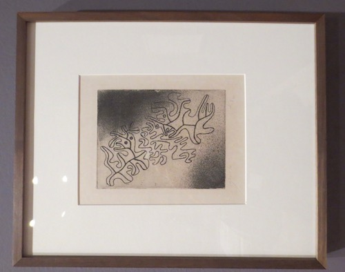 Nicht ended  (Not Ending) (1930), by Paul Klee; etching.