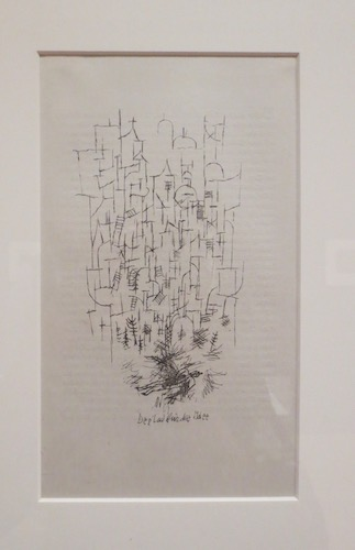 Der Tod für die Idee  (Dying for a Cause) (1915), by Paul Klee; lithograph.
