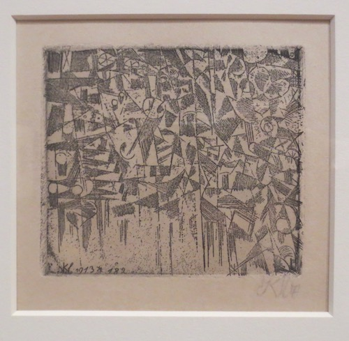 Ohne Titel  (Untitled) (1913), by Paul Klee; etching.