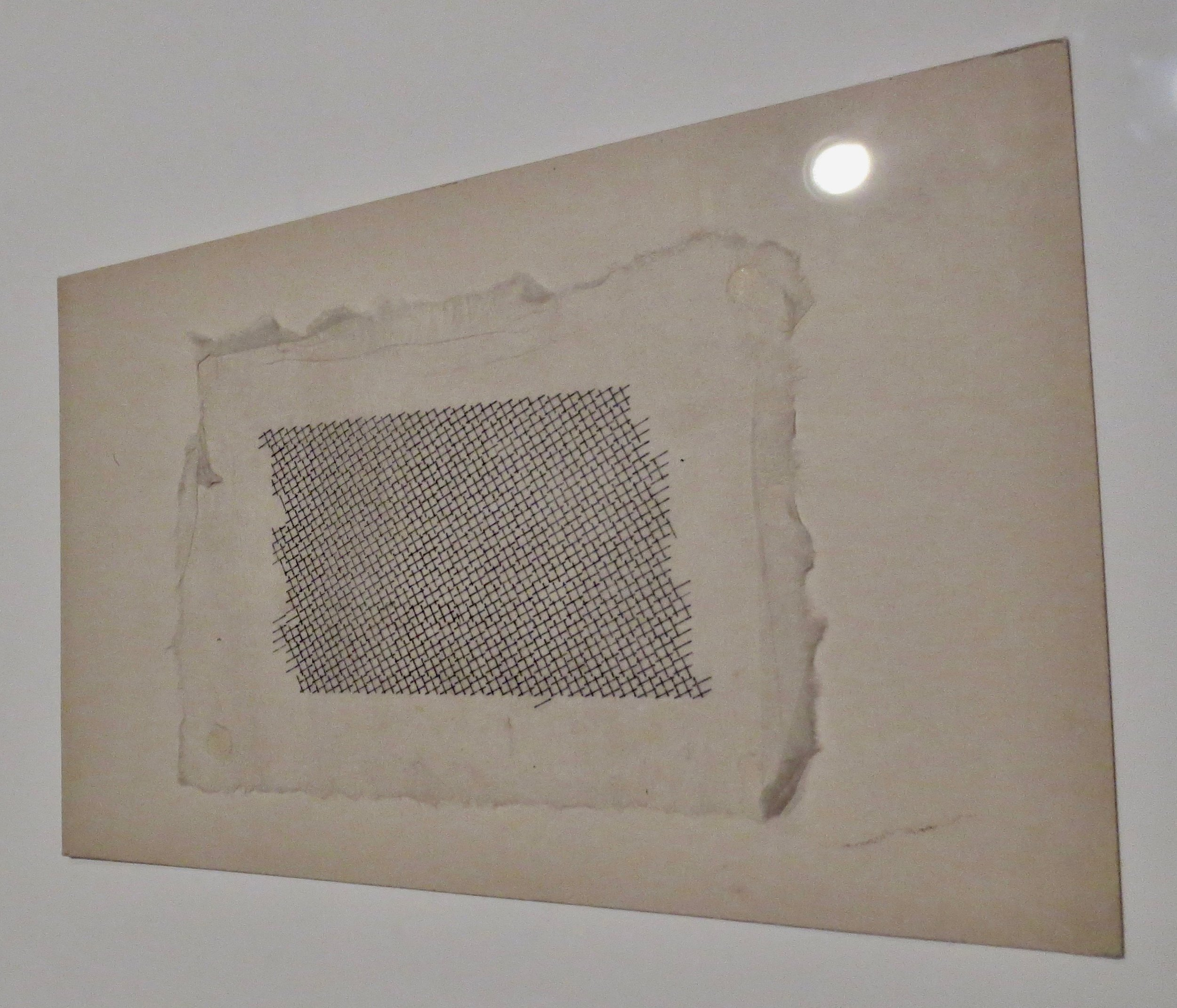 Study made on the typewriter  (n.d.), by Anni Albers; typewriter printing in black ink on paper mounted on board.