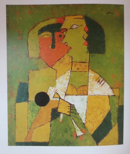 Untitled  (1955), by V.S. Gaitonde. Oil on canvas; 30 x 22 inches. Source: Sandhini Poddar,  V.S. Gaitonde: Painting as Process, Painting as Life  (New York, Munich, London: Prestel/DelMonico Books, 2014).