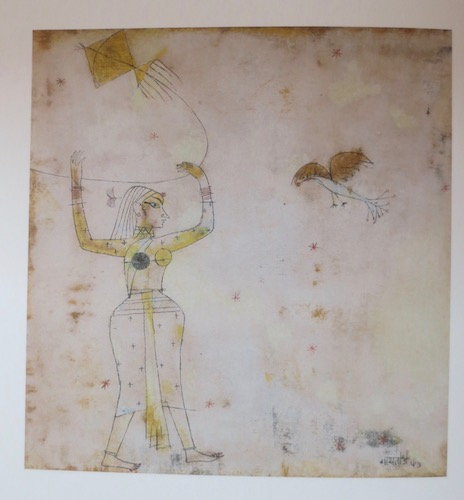 Untitled  (1953), by V.S. Gaitonde. Watercolor and ink on paper; 9 3/4 x 9 1/4 inches. Mumbai, Tata Institute of Fundamental Research. Source: Sandhini Poddar,  V.S. Gaitonde: Painting as Process, Painting as Life  (New York, Munich, London: Prestel/DelMonico Books, 2014).