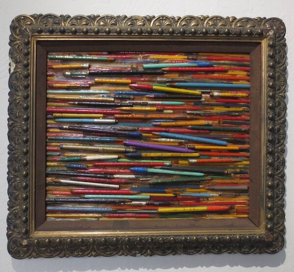 Silent Scribblings , by Larry Fuente. mixed media.