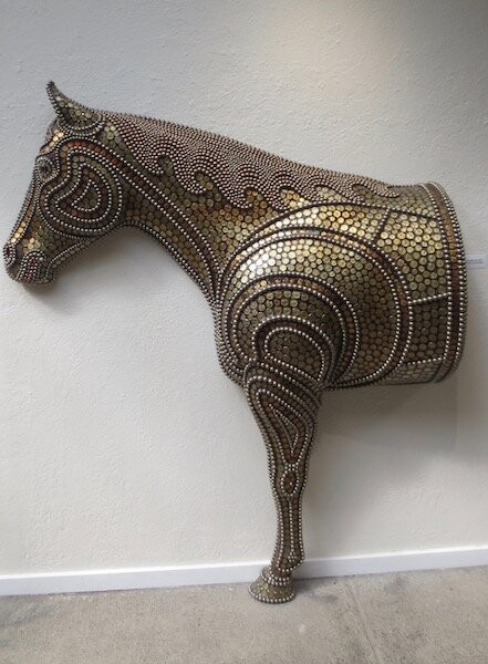 Quarter Horse,  by Larry Fuente. mixed media.