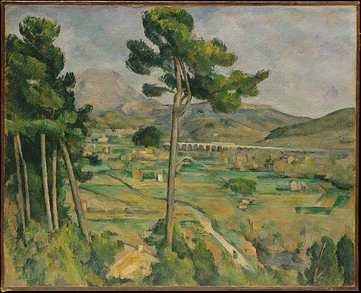 Mont Sainte-Victoire and the Viaduct of the Arc River Valley  (1882-1885), by Paul Cézanne. Metropolitan Museum of Art, New York. Source: commons.wikimedia.org/