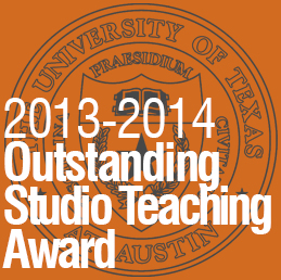 2014_0506 Matt Fajkus MF Architecture 2013-2014 UTSoA Outstanding Studio Teaching Award.jpg