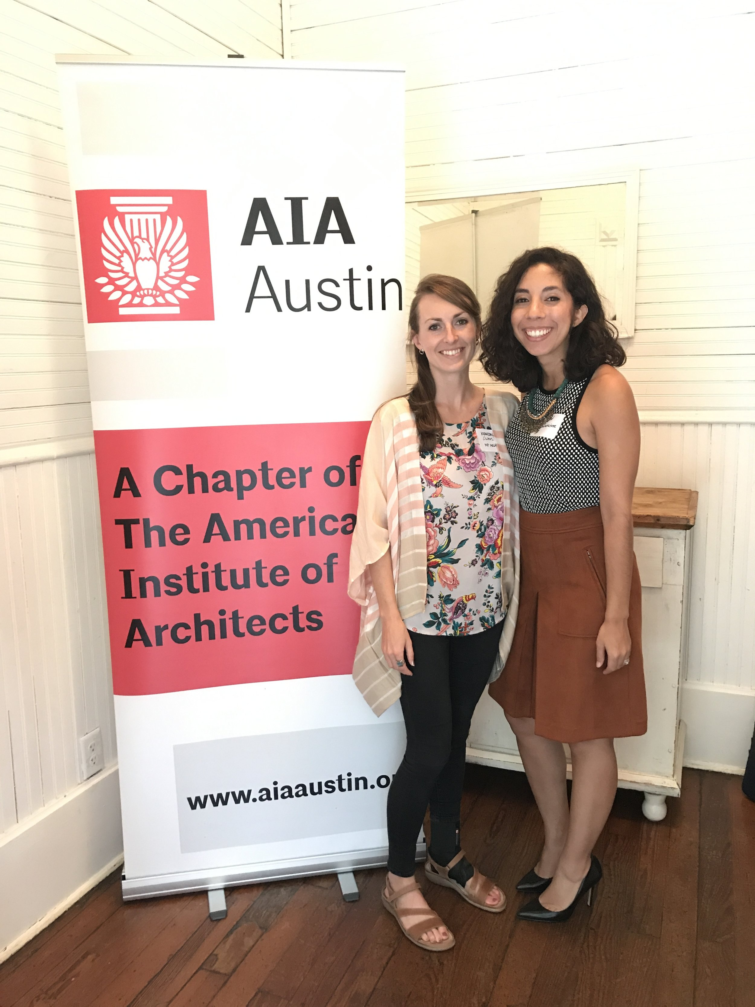 New AIA Board Members - Kendall Claus and Ingrid G. Featherston.JPG