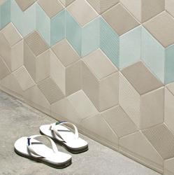 tile porcelain soligo tex beige blue grey shower laval montreal blainville rosemere