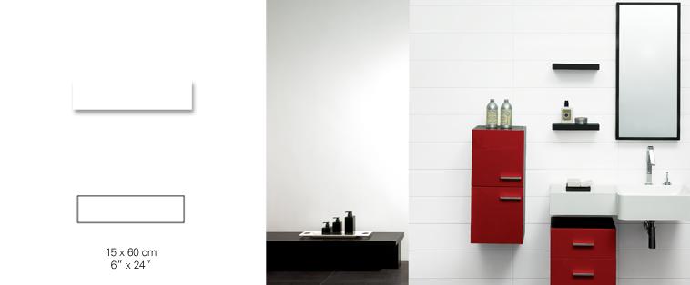 mosaïque dosseret blanche rouge salle de bain tex soligo laval montreal rosemere blainville