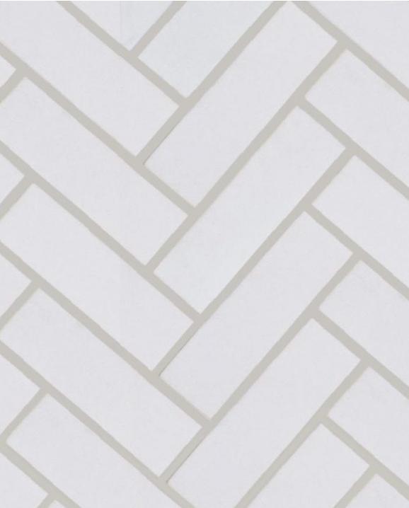 Arvex Enameled Herringbone, 1 x 4, $17.99 / pi.ca.