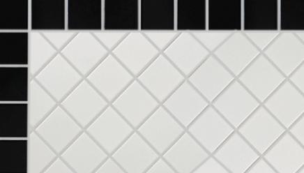 Mosaïque Noir et Blanc, 2x2, à partir de $2.99 / pi.ca.