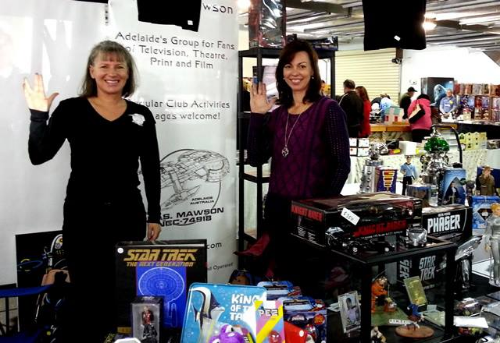 Day two of The Mega Toy Fair with members, Ilona and Michelle having fun operating the club expo stand.