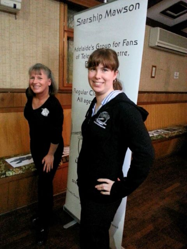 Club members, Eliza and Ilona, modelling the latest in our funky club hoodies and T's at the club 7th Birthday dinner!