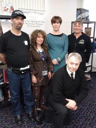 September 15, Star Trek - Buck Rogers convention meet-up in Adelaide. Always a fun time for our members to meet actors from some of their favorite tv shows and films! Club members - Rob, Connie, Eliza, Ilona and Mick (kneeling), in front of our expo area at the event.