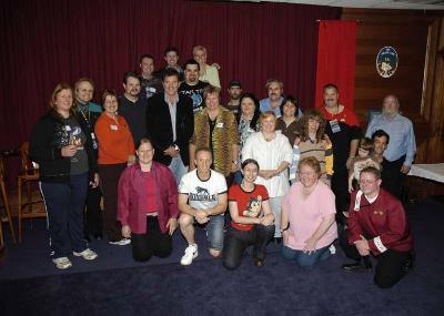 Some of our subscribers with Barry Jenner at the time of our group's inauguration!
