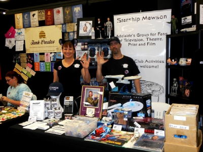 November 16 and Day 1 of Supanova Pop Culture Festival in Adelaide and here's a few images from our expo stand and members - Ilona and Rob.