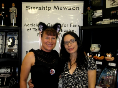 November 17 - Day 2 of Supanova Pop Culture Festival with members - Ilona and Sandra at our expo stand.