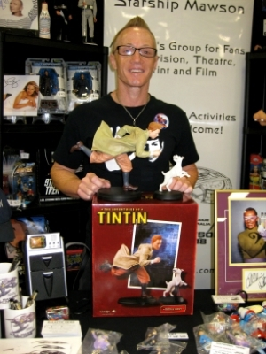Day 2 of Supanova - Club Captain, Stu Blair with his latest edition to his Tintin collection!