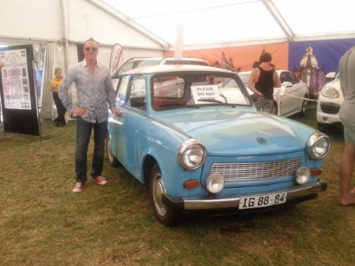 Club Captain - Stu Blair, admiring the cool, retro cars on display at The Schutzenfest during our meet-up on Jan 11.