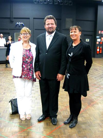 Ilona and Cherie with one of SA Opera's brilliant performers for La Traviata!