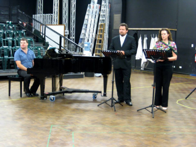 """Our April 23 """"Behind the scenes"""" meet-up at SA Opera HQ for Opera Encore gave us a chance to get up close with many of the performers for La Traviata and hear some wonderful singing!."""
