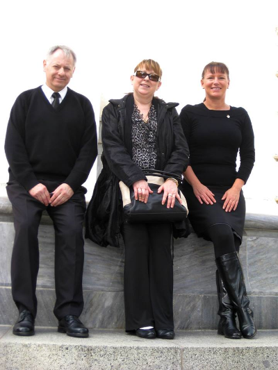 Members - Mick, Cherie and Ilona (pictured at the war memorial in the heart of Adelaide's CBD.)